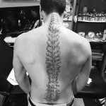 Anatomical Spine Tattoo by millertattoo617