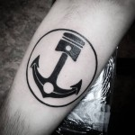 Anchor Piston Tattoo