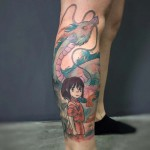 Anime Girl Tattoo