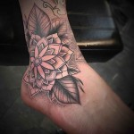 Ankle Flower Tattoo