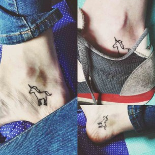 Ankle Tattoo Unicorn