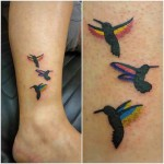 Ankle Tattoos Birds
