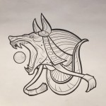 Anubis Tattoo Design