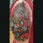 Anubis Tattoo New School by calebmorgantattoo