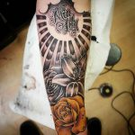 Mia Lily Arm Sleeve Tattoo