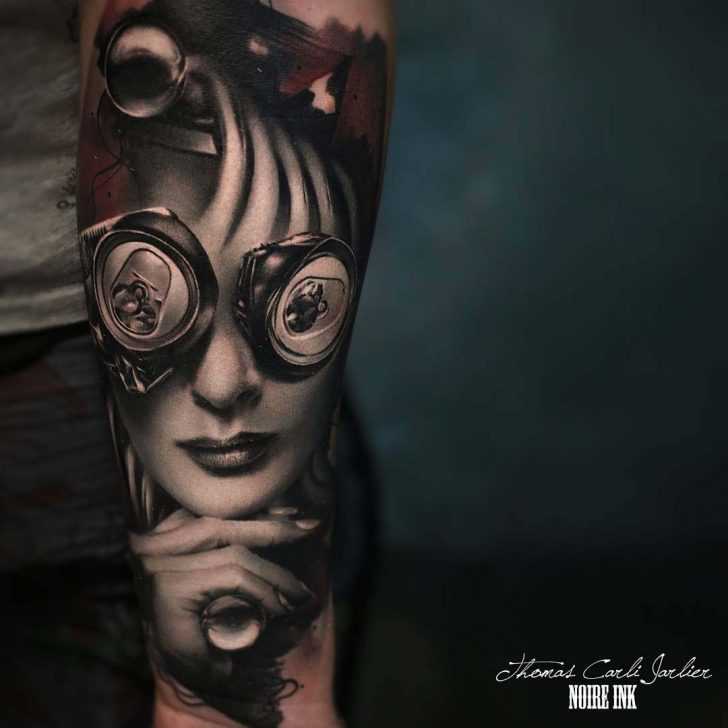 cool tattoo on forearm