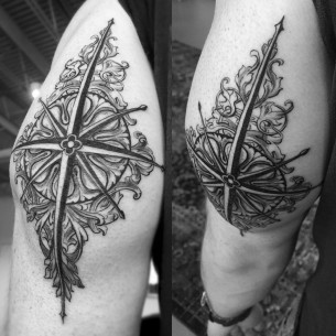 Baroque Tattoo Compass Rose