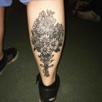 Bouquet of Flowers Tattoo by alexfelicianoart