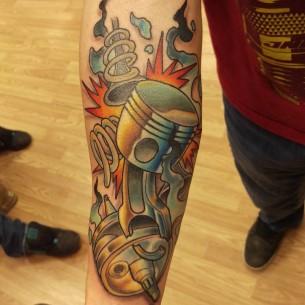 Broken Piston Tattoo