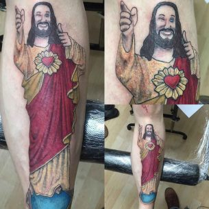 Buddy Christ Tattoo