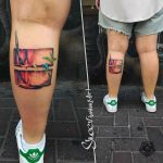 Calf Tattoo for Artist by @sheer_perelman
