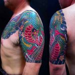 Chest Half Sleeve Tattoo Designs