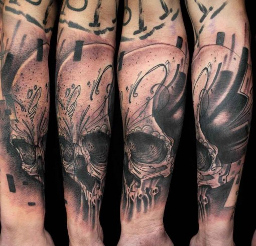 skull chicano tattoo