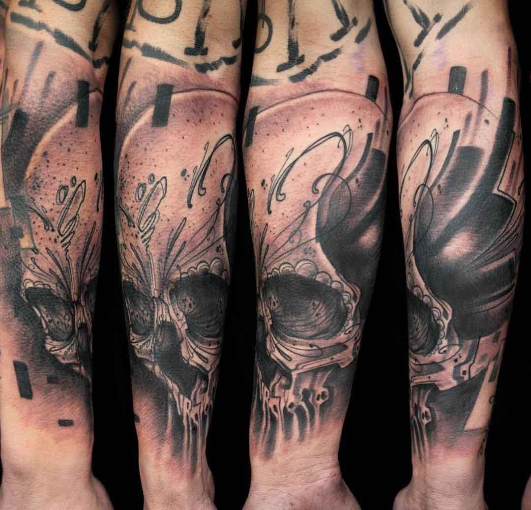 skull chicano tattoo