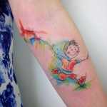 Childhood Tattoo Watercolor