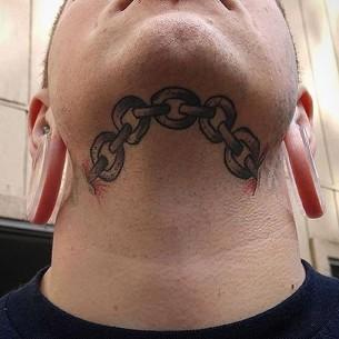 Chin Chain Tattoo