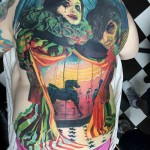 full back circus tattoo carousel