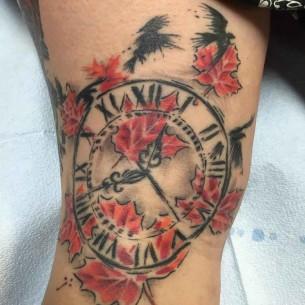 Clock Tattoo Trash Polka