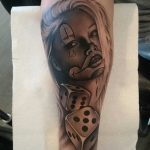 chicano clown girl tattoo