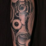 Cogwheels and Piston Tottoo by ajtattooguy