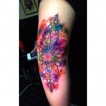 Colorful Elbow Tattoo by milotay_tattoo_artist
