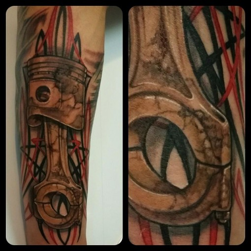 Cool Piston Tattoo 3D by kri8or_chrisormond