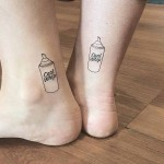 Cool Whip Tattoos on Ankles by cholo_ink