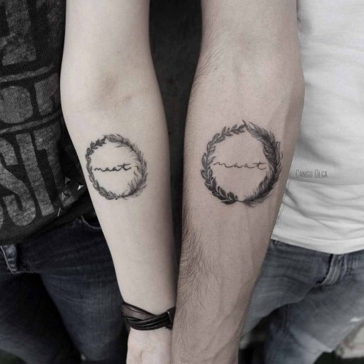 circle tattoo for couples