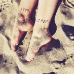Date Years Tattoos on Ankles