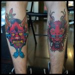 Demon Tattoos on Calves by conghylam
