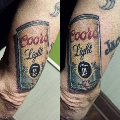 Drink Can Tricep Tattoo by naleak 2