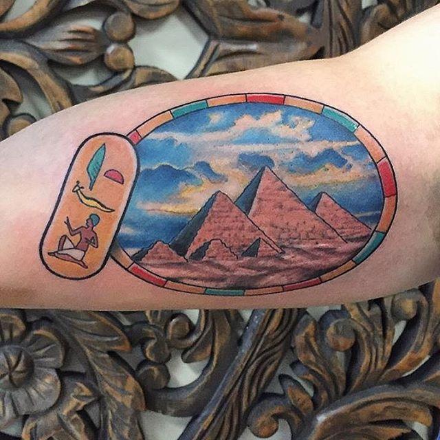 Egyptian Pyramid Tattoo by @daniel57m