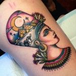 Traditional Egyptian Queen Tattoo