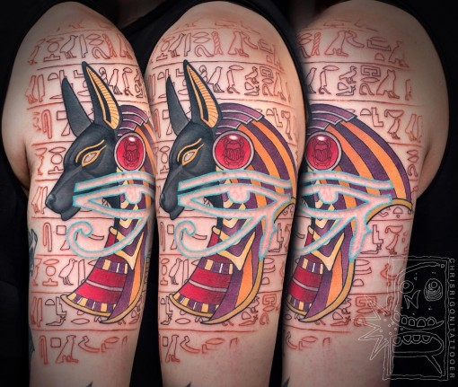 Egyptian Symbols Tattoo by chrisrigonitattooer