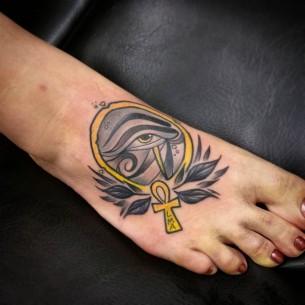 Egyptian Tattoo on Foot