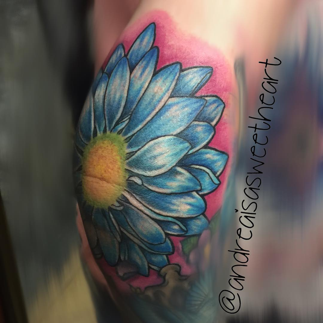 Elbow Flower Tattoo by andreaisasweetheart