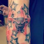 Elbow Star Tattoo Designs