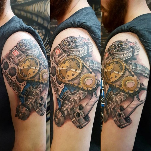 Engine Parts Tattoo | Best Tattoo Ideas Gallery