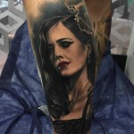 Eva Green Portrait Tattoo