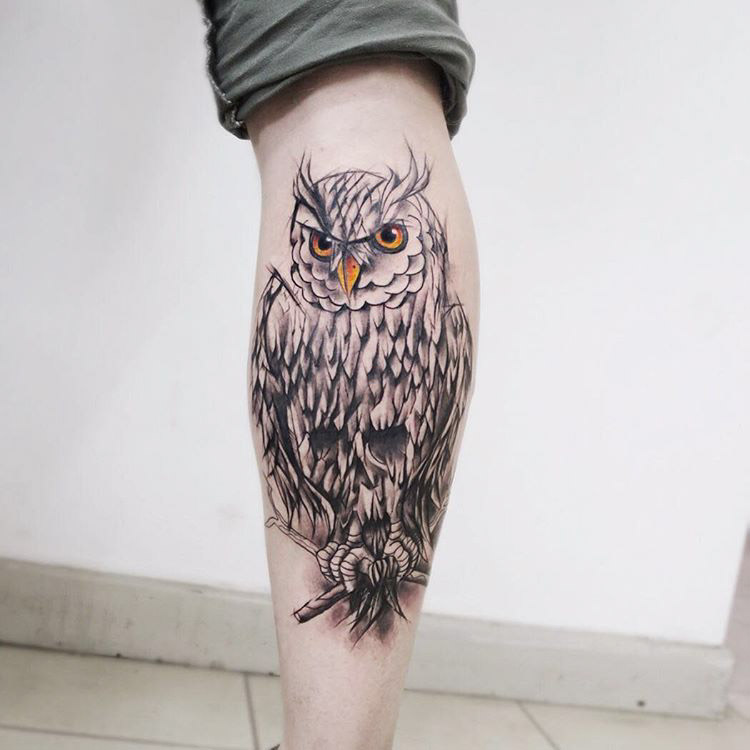 Evil Owl Tattoo by witold_walenski