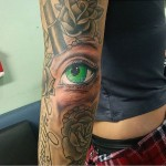 Eye Tattoo on Elbow