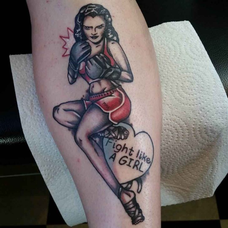 Fight Like a Girl Tattoo by ell_torres_tattoos