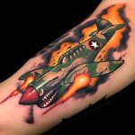 Fighter Plane Tattoo