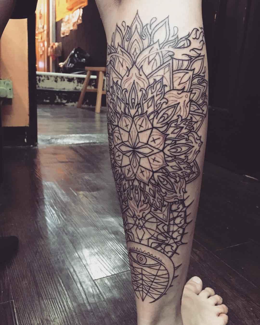 Fire Mandala Tattoo Outlines | Best Tattoo Ideas Gallery