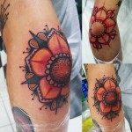 Flower Elbow Tattoo