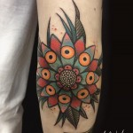 Flower Tattoo Elbow by xxmika_babyxx