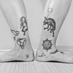 Foot and Ankle Tattoos by martykan_and_saha