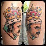 Freddy Mercury Tattoo Queen by misspoppytattoo