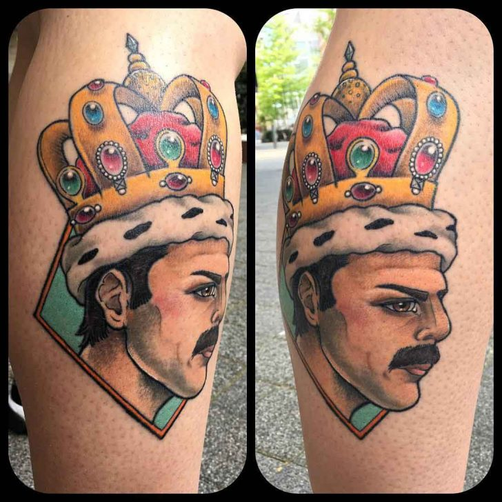 Freddy Mercury Tattoo Queen by misspoppytattoo