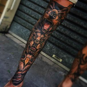 Full Leg Animalistic Sleeve